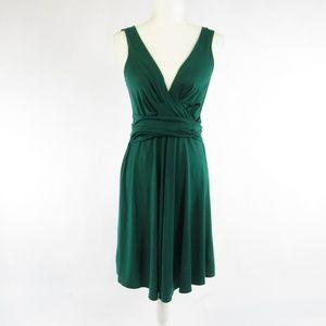 DKNY green sleeveless A-line dress S
